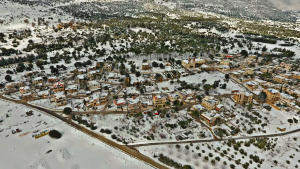 SUPROMED's demo site in village of Ammiq Lebanon, during the snowfall   ❄️☃️ of 17-18 February 2021