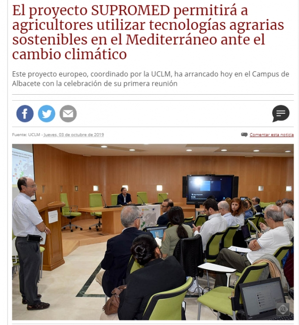 Read the article about Supromed project in the local newspaper of Albacete!